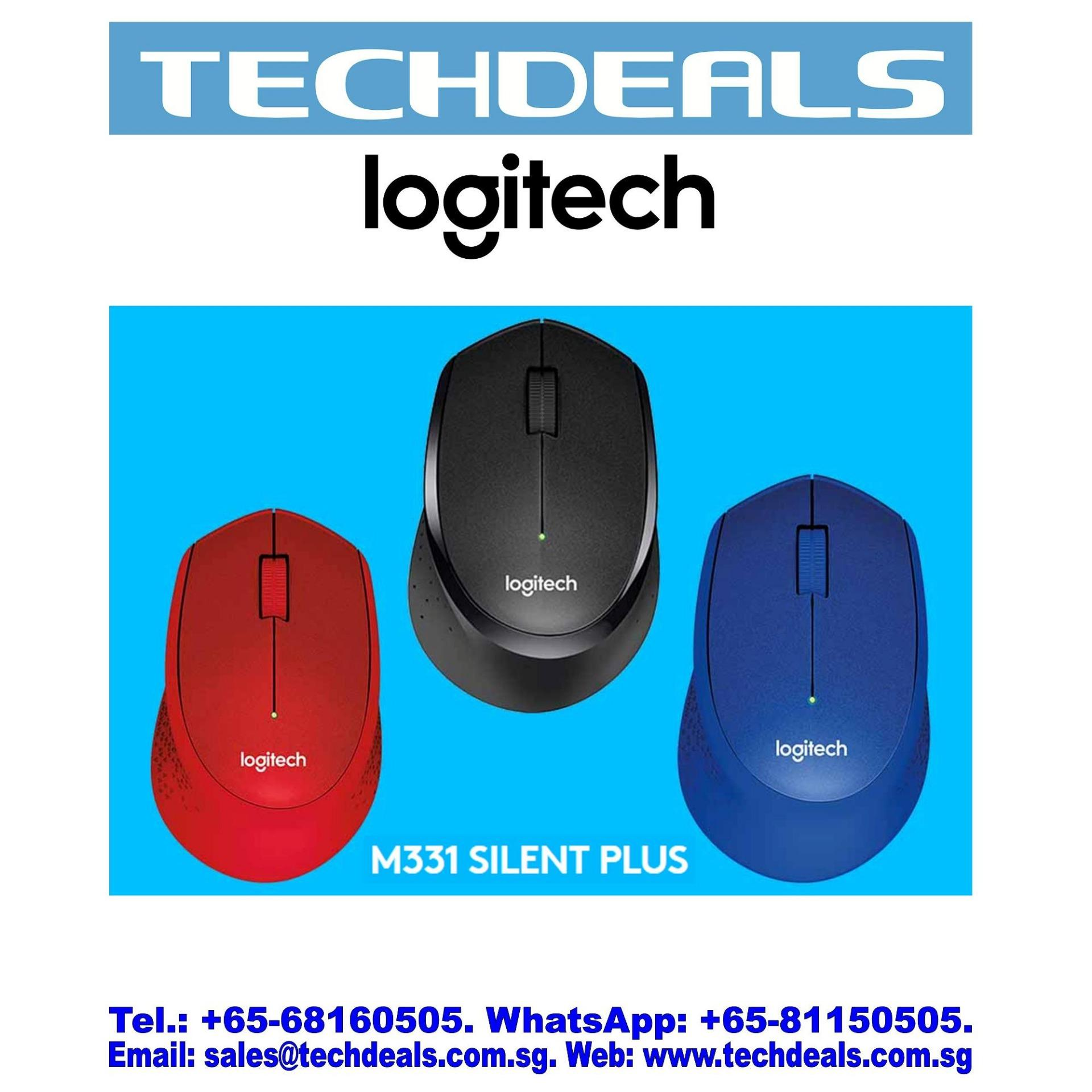 LOGITECH M331 SLIENT PLUS WIRELESS MOUSE BLACK(1Y)