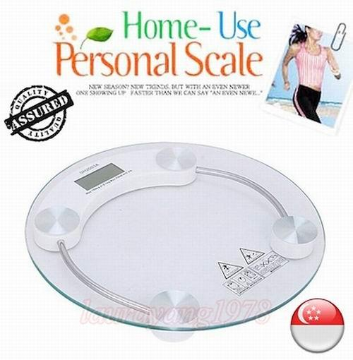 Digital Weighing Scale / Body Scale For Health Care Fitness Yoga Sport Diet ★ Strong Tempered Glass ★ Big Size ★ Weight Up To 180kg ★ By Sk I.t. Solutions.