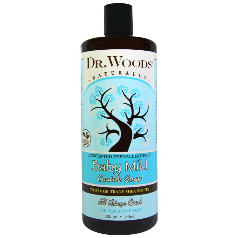 Buy Dr. Woods, Baby Mild, Castile Soap with Fair Trade Shea Butter, Unscented, (946 ml) Singapore