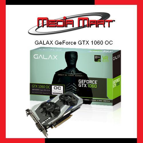 Review Galax Geforce® Gtx 1060 Oc 3Gb 192 Bit Gddr5 Dp 1 4 Hdmi 2 0B Dual Link Dvi D Galax