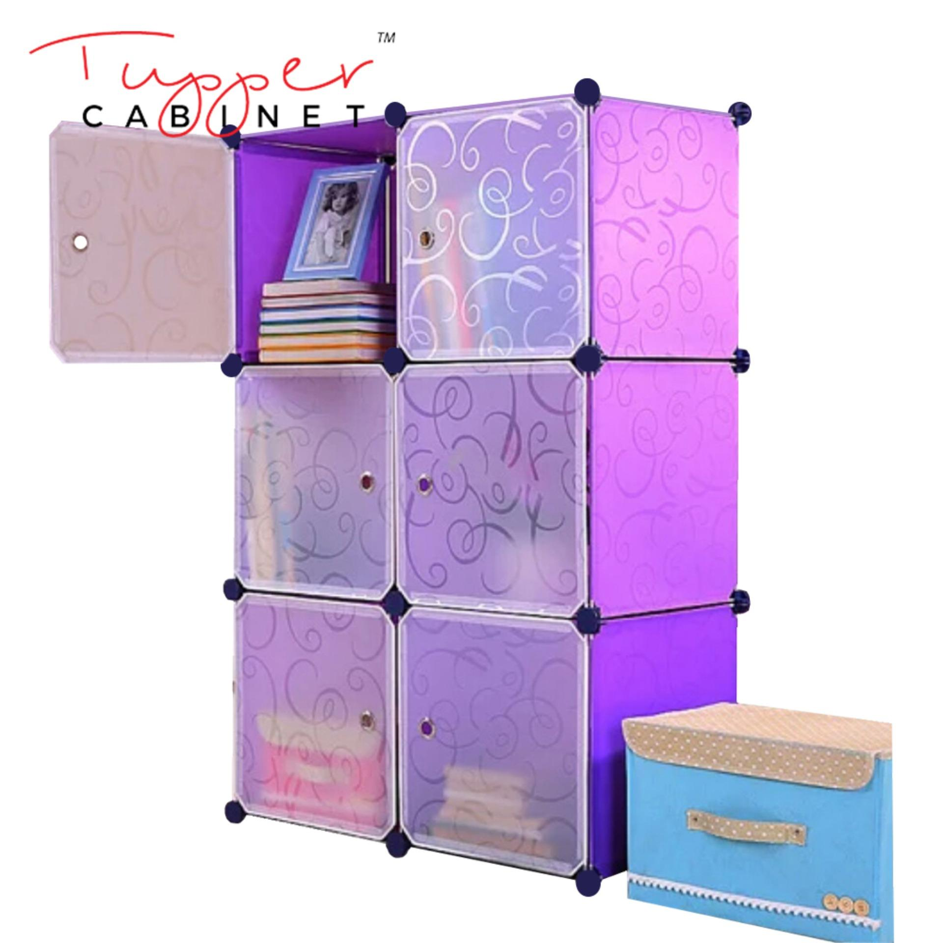 Where Can You Buy Tupper Cabinet Elegant Purple 6 Cubes Storage Cabinet Beauty Collection
