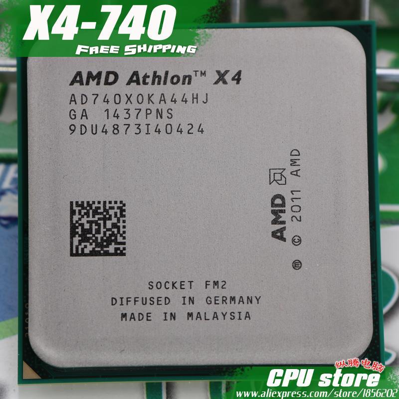AMD X4 740 Quad-Core FM2 3.2 GHz 4 MB 65 W Prosesor CPU Potongan X4-740 (Bekerja 100%) 740 Ada, Jual X4 730-Intl