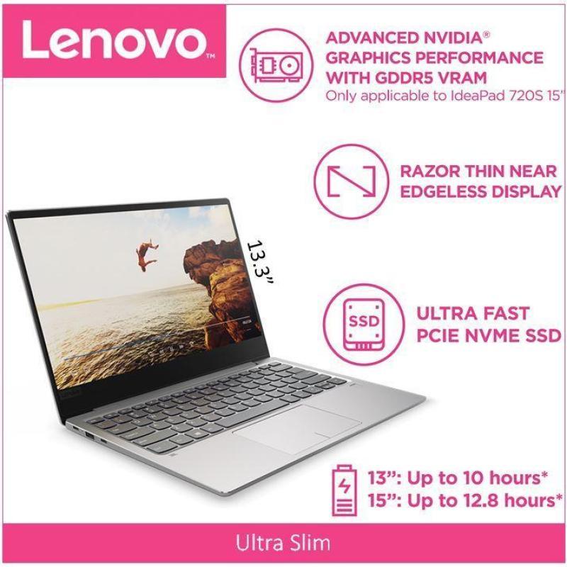 LenovoIdeaPad 720S(Thin&Light)13.3 FHD i7-8550U GREY 2 Year Local Warranty