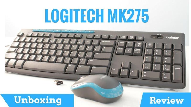 Logitech MK275 Wireless Keyboard (Black) Singapore