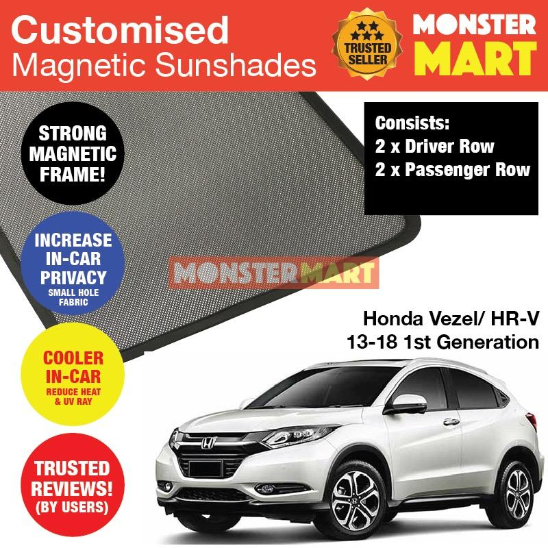 Purchase Honda Vezel Hr V 2013 2018 1St Generation Customised Car Accessories Window Magnetic Sunshades 4 Pieces Online