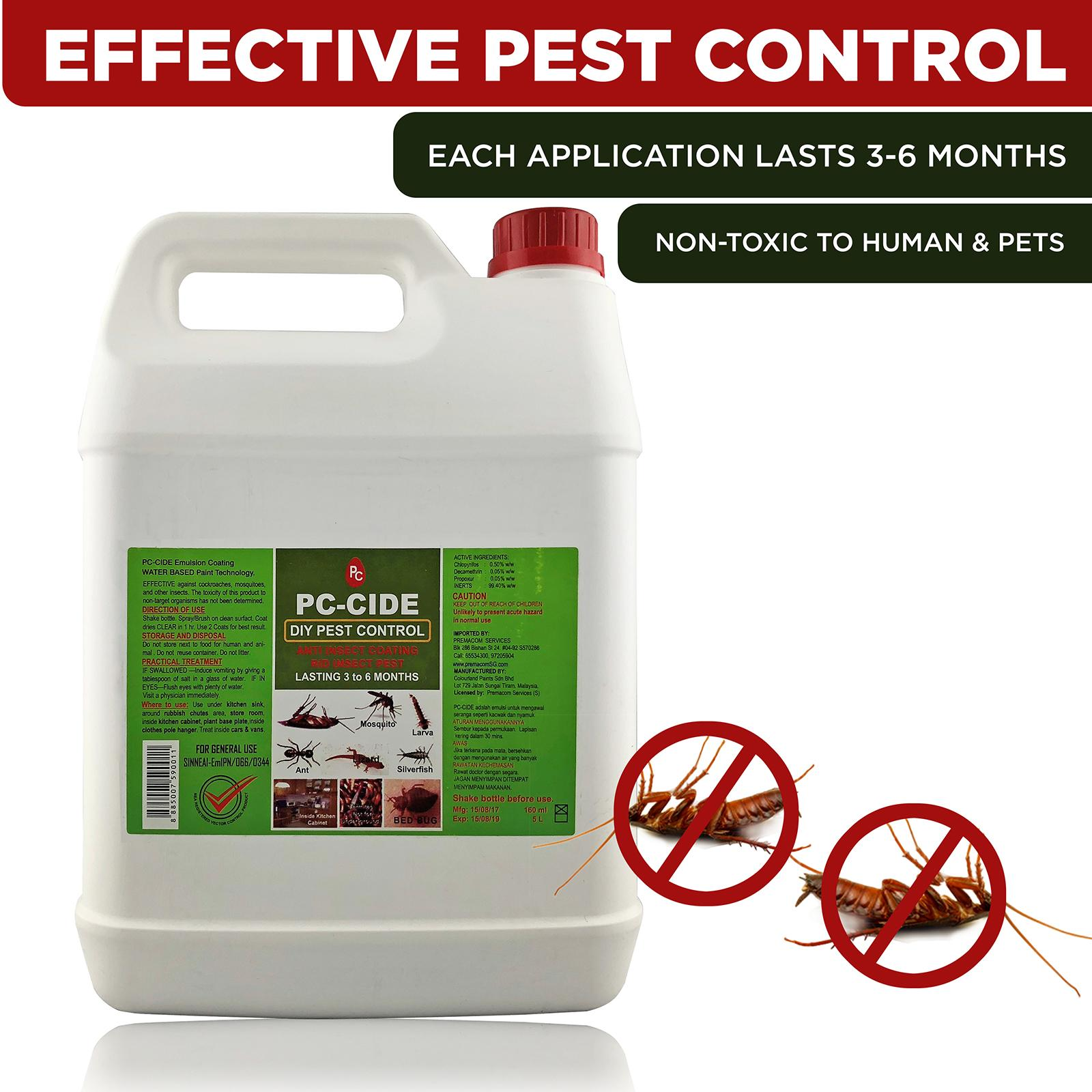 Pc-Cide Diy Pest Control Treatment 5l By Corlison.