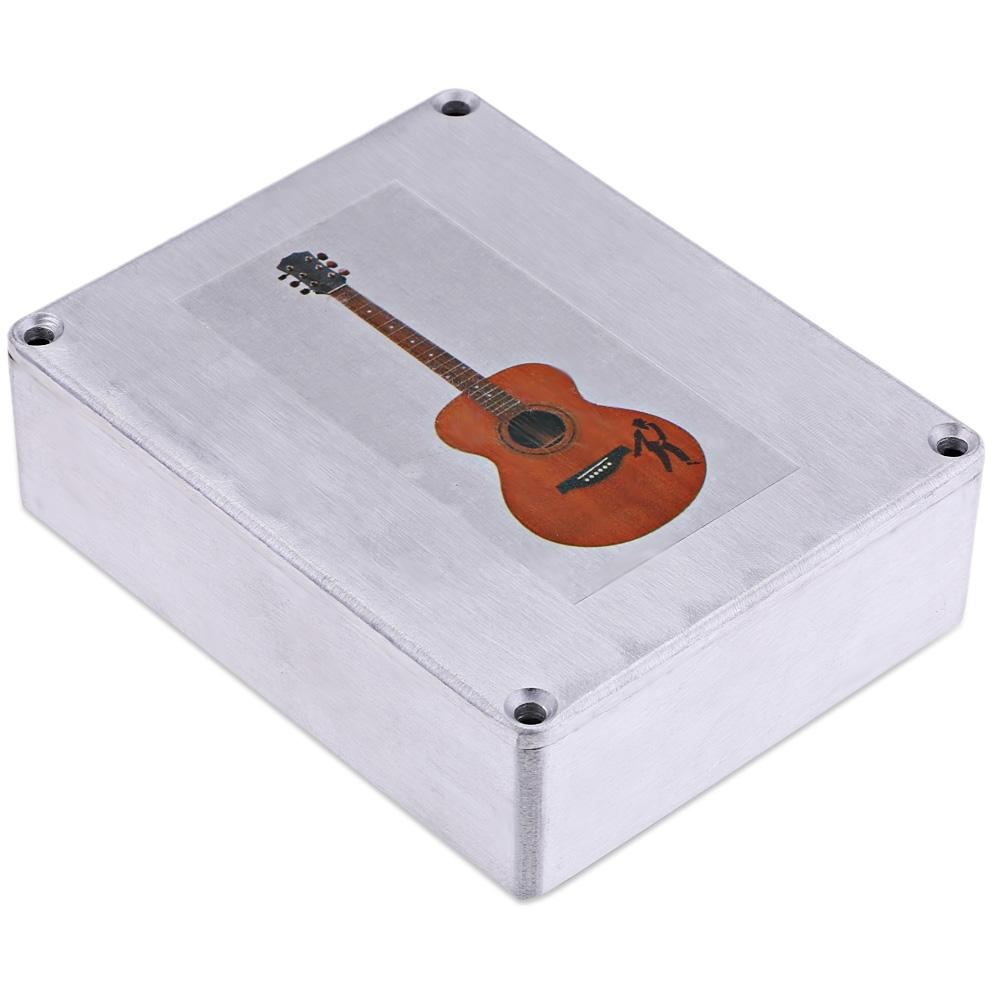 1590BB Aluminum Effect Pedal Box Case Storage Holder for Guitar Instrument- GUITAR PATTERN