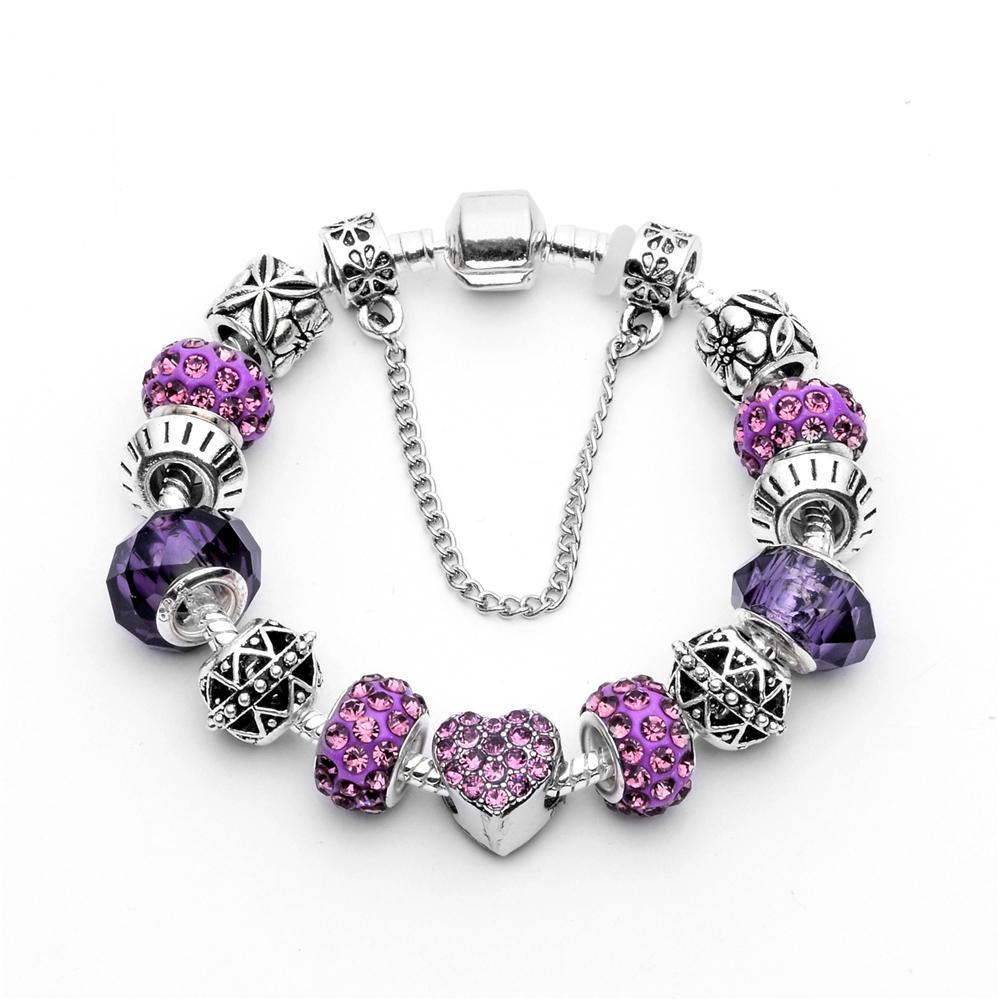 Great Deal Cosmic Jewellery Heartfelt Charms Bracelet