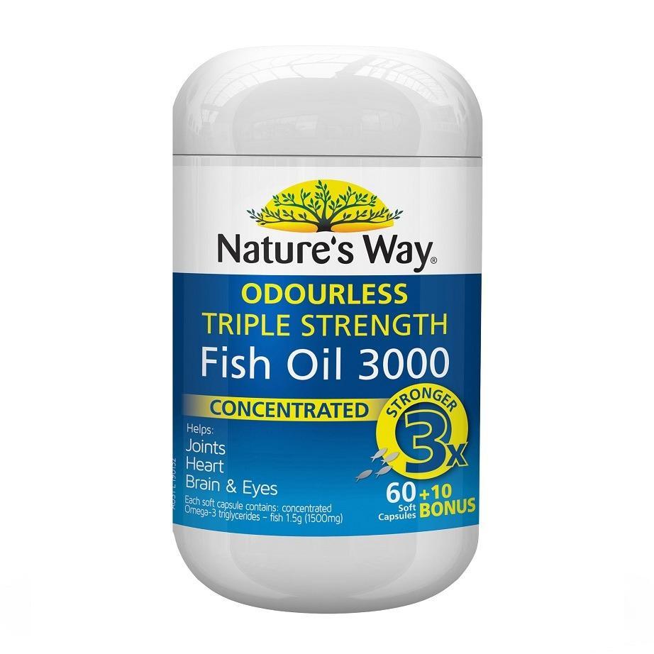 Nature's Way Advanced Omega Triple Strength Fish Oil 60 Capsules + 10 Bonus