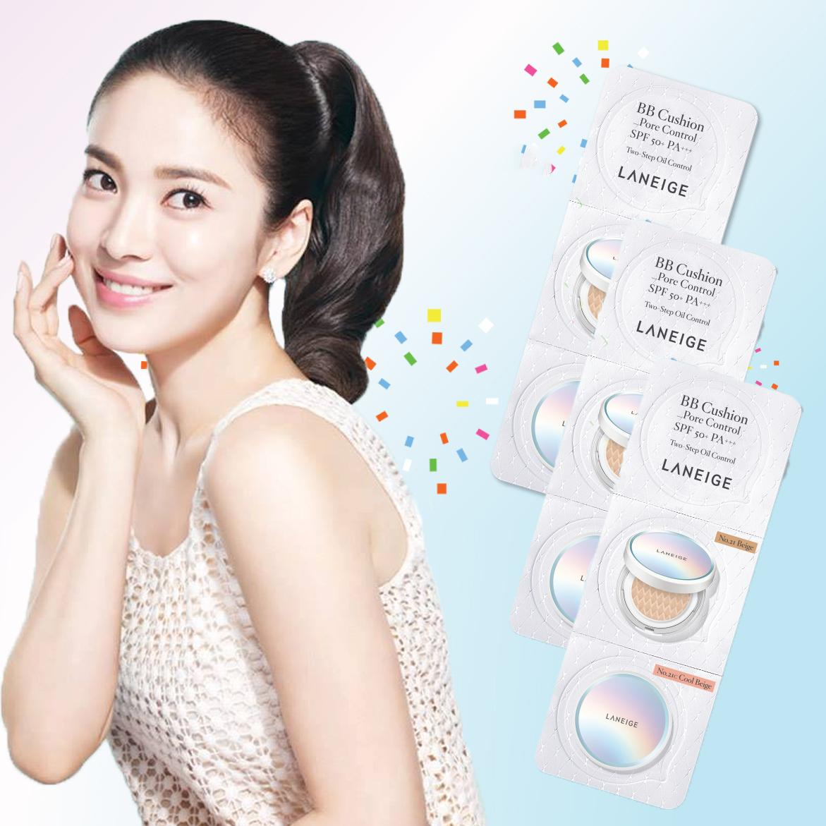 Laneige Cushion Blister Set Of 3 By Mybeautyshop.