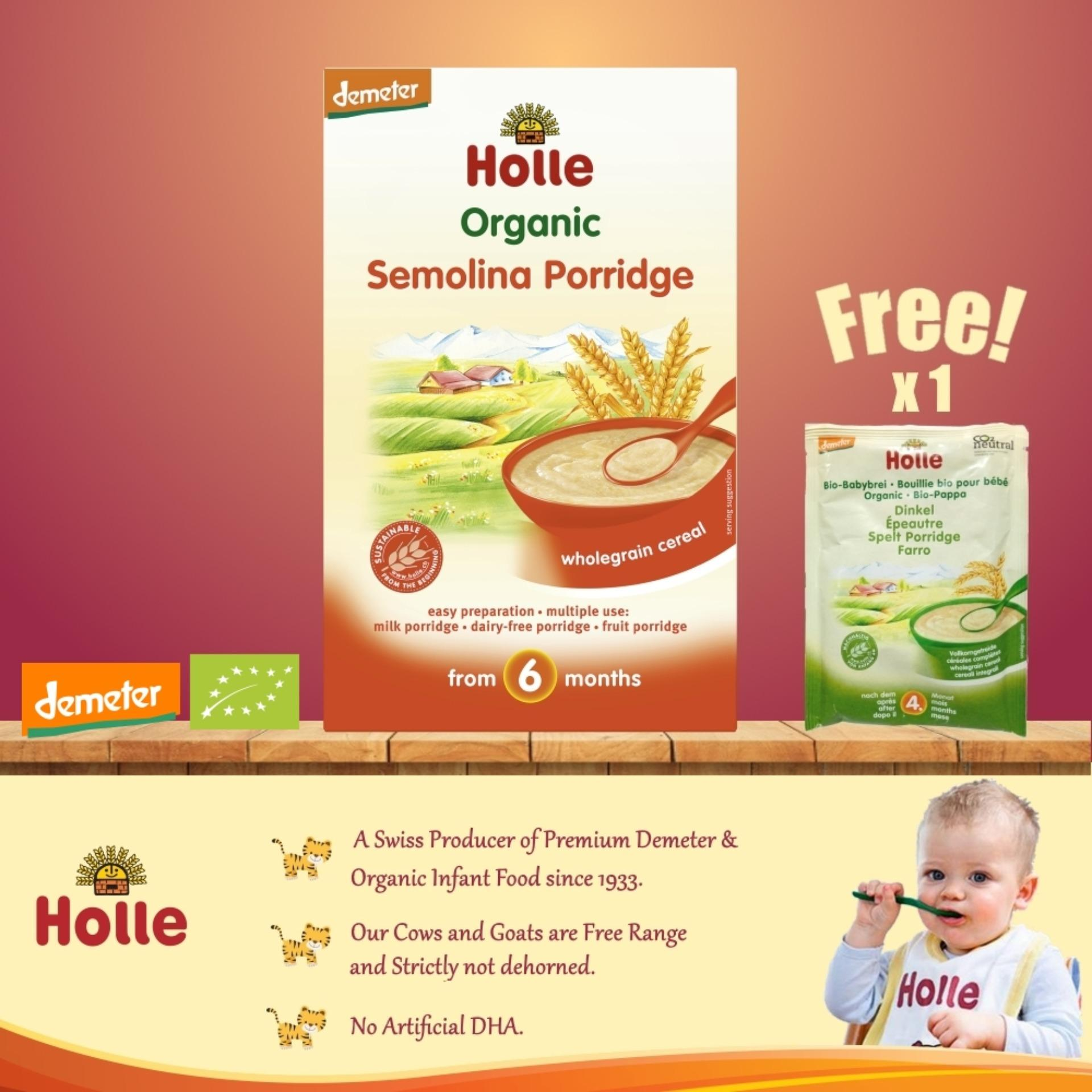 For Sale Expiry 01 Mar 2019 2 X Organic Semolina Porridge 250G