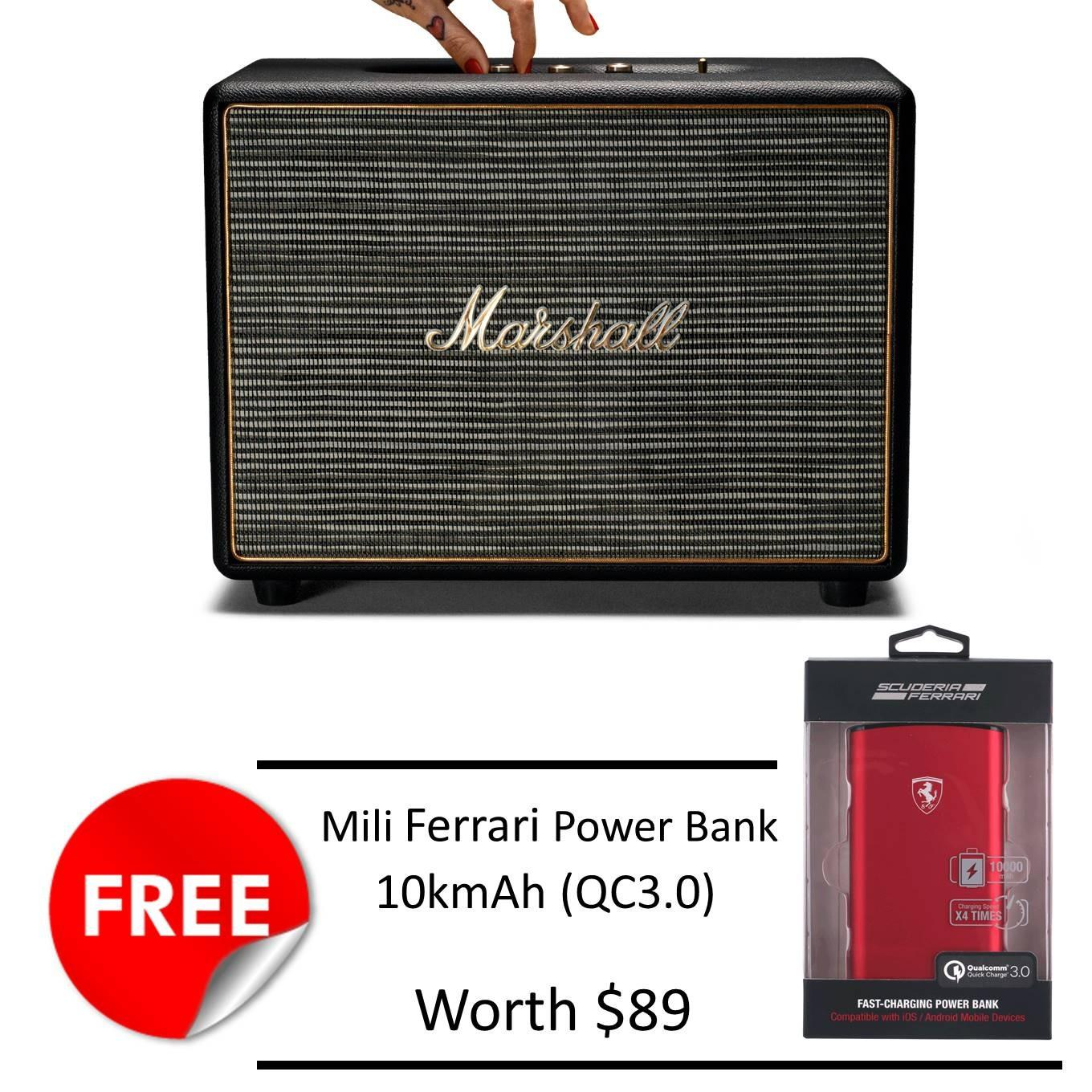 Buy Marshall Woburn Speaker Black Free Mili Ferrari 10Kmah Powerbank Marshall