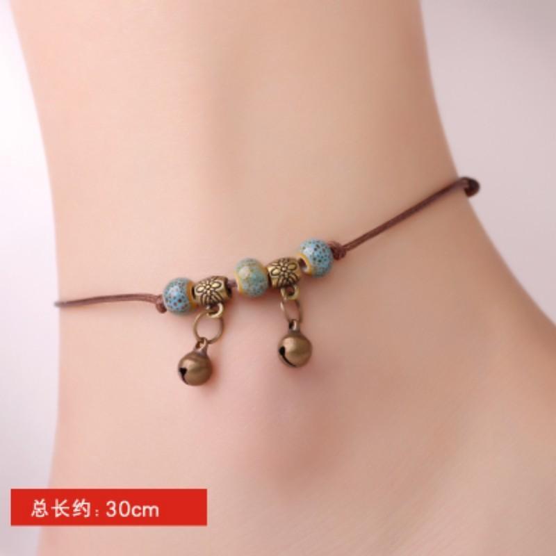 【Manik-manik batu giok putih】Giok alam tali merah gelang perempuan Korea kecil manis segar perdamaian kunci gelang tali tangan temperamen sederhana liontin