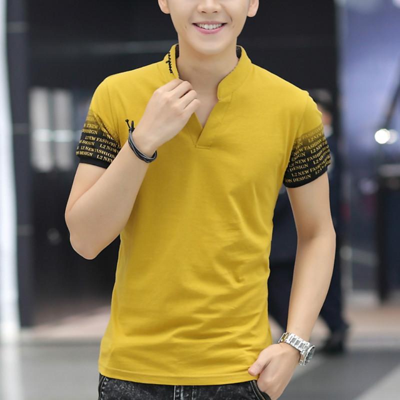 332cbf98fd70 Silk Family Summer New Style Men s Short-sleeved T-shirt Slim Fit Pure  Cotton