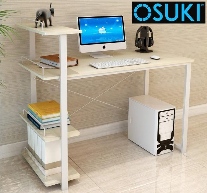 OSUKI Home Office Table 120 x 54cm With Attached Shelf (Wooden)