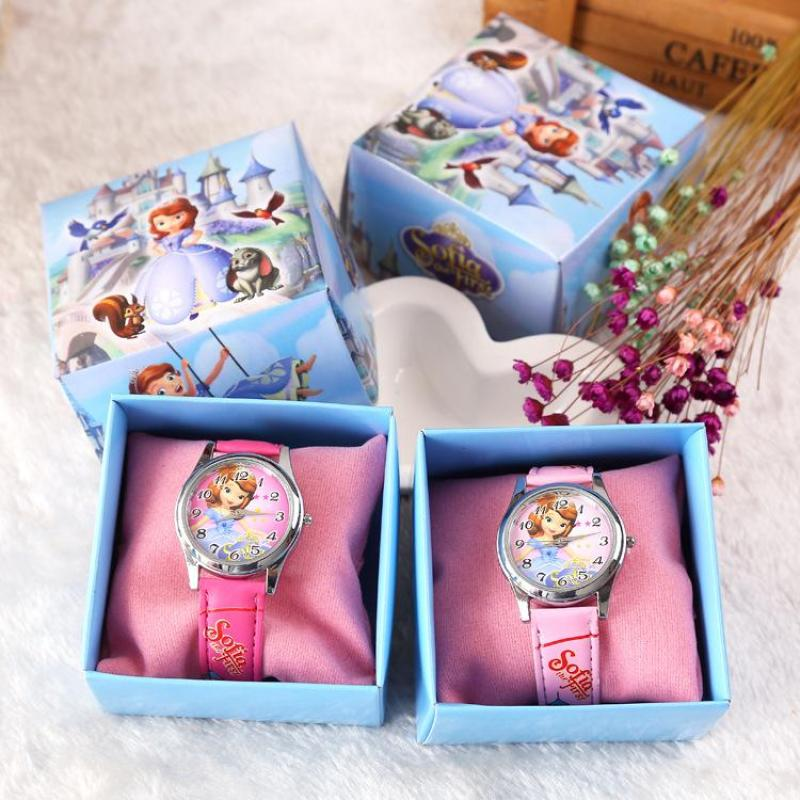 Factory direct boxed childrens watch wholesale custom Sofia boxed cartoon watch a generation Malaysia