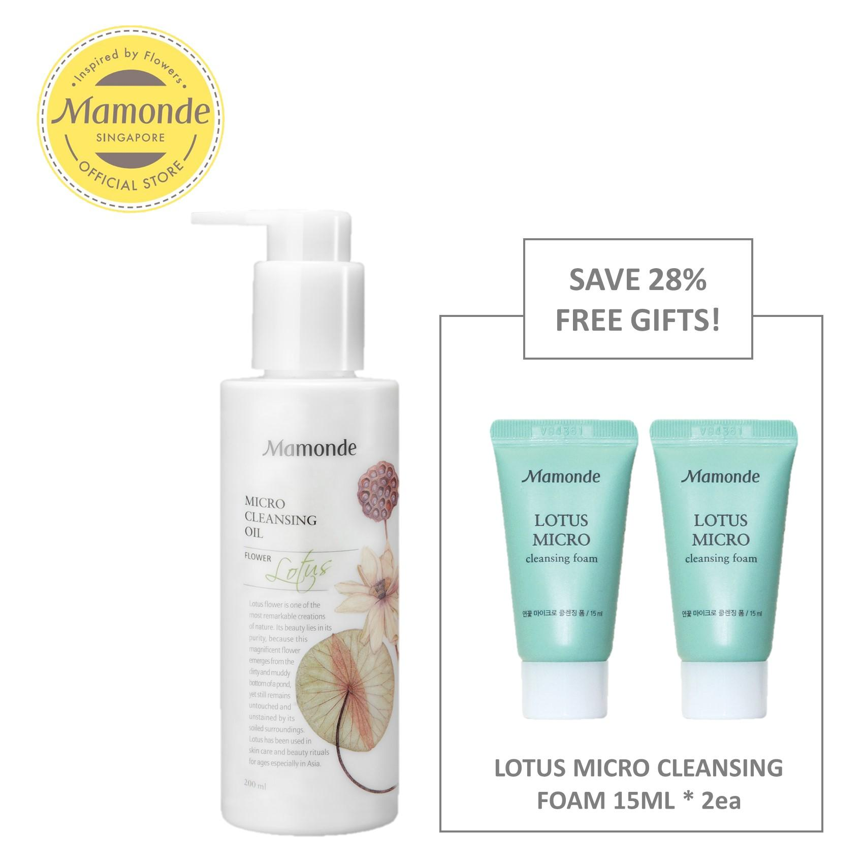 Review Mamonde Lotus Micro Cleansing Oil 200Ml Set Exclusive Singapore