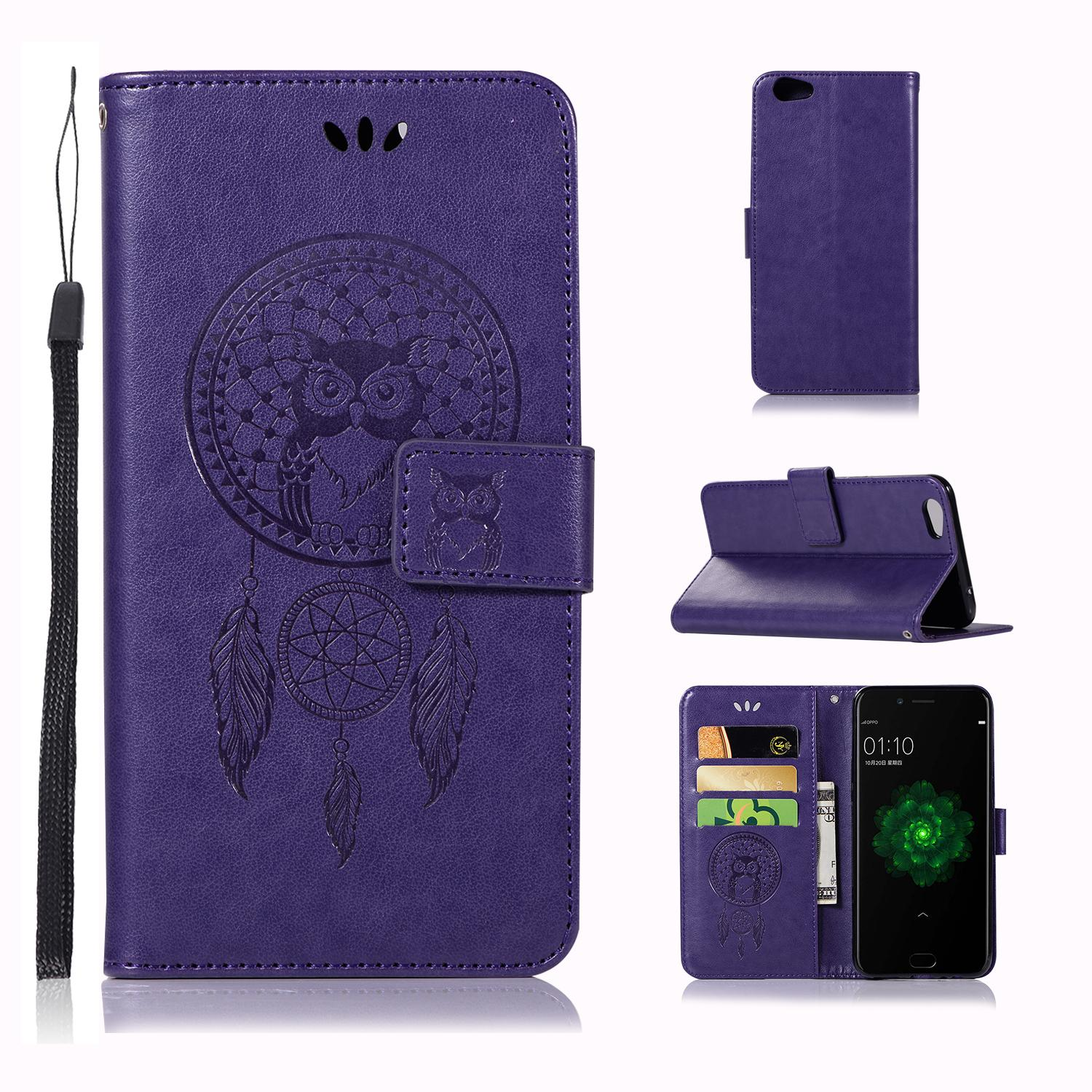 Luxury For Oppo F3 Plus/r9s Plus Casing , 3d Owl Embossing Leather Folio Flip Case Cover By Life Goes On.