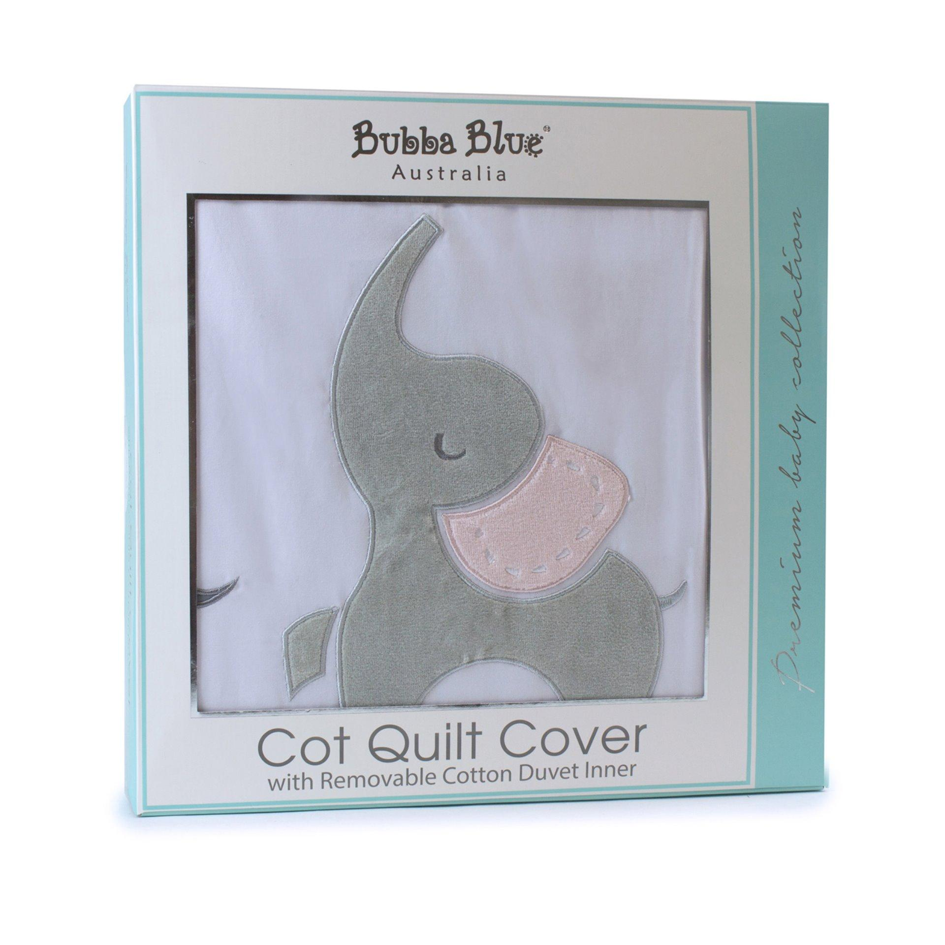 Bubba Blue Girl Zoofari Cot Quilt Cover with duvet