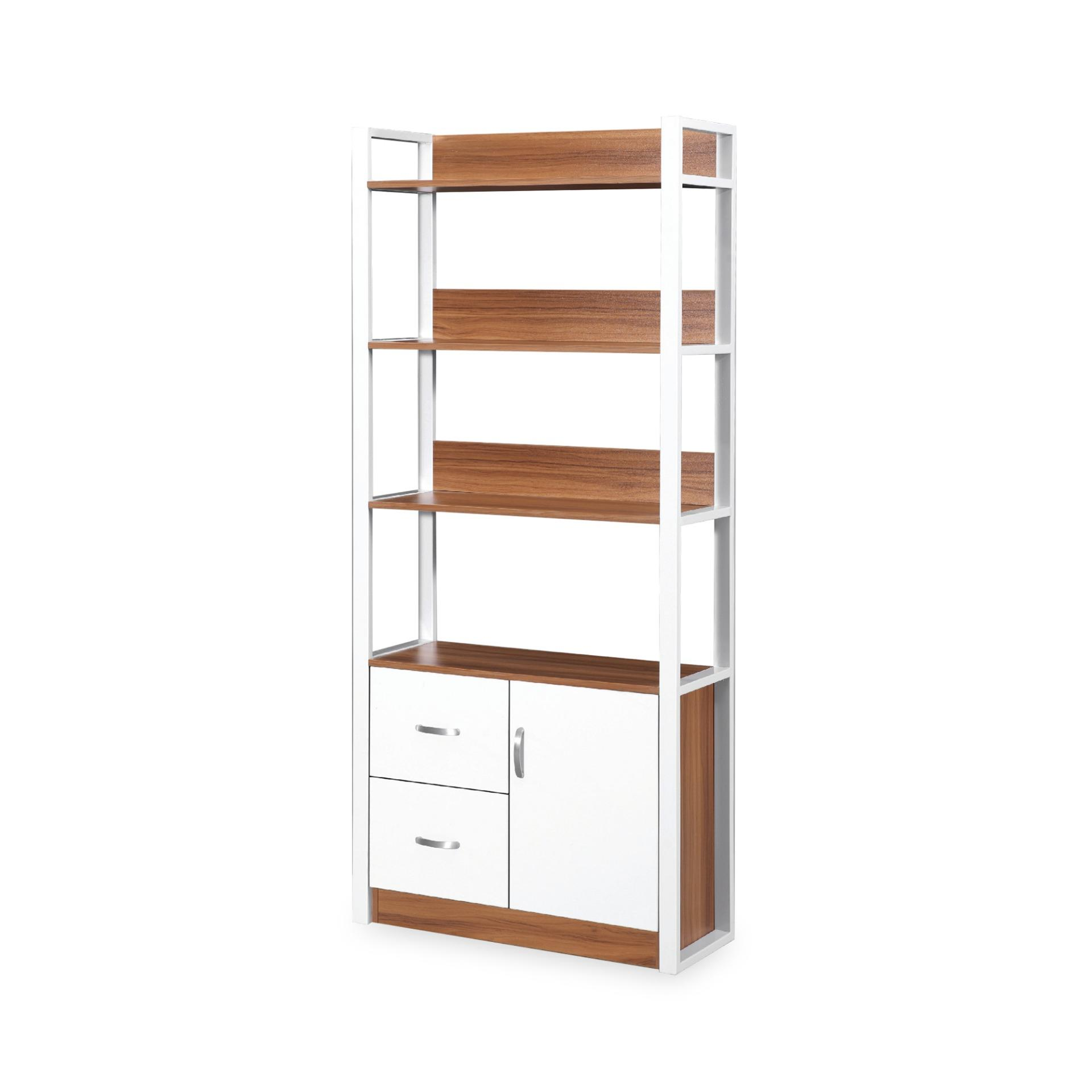 Ambra Book Cabinet With Storage Shelves (FREE DELIVERY)(FREE ASSEMBLY)