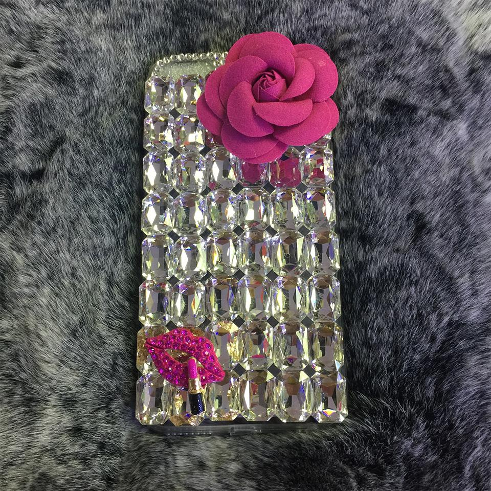 Untuk Xiaomi Redmi 5 Plus Case Buatan Tangan Berlian Imitasi Case Berlian Kristal Merak Sarung Bunga Leopard Telepon Case-Internasional
