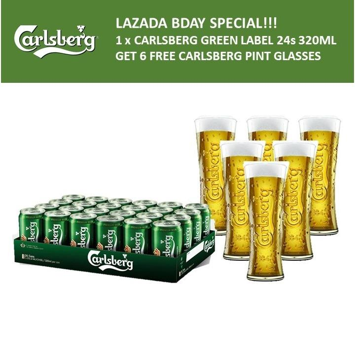 Where Can I Buy Carlsberg Green Label Can 24 X 320Ml 6 Free Carlsberg Pint Glasses 450Ml