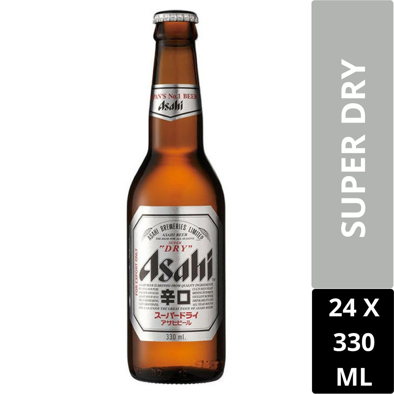 Asahi Super Dry Draft Beer 330Ml Case Of 24 Bottles Singapore