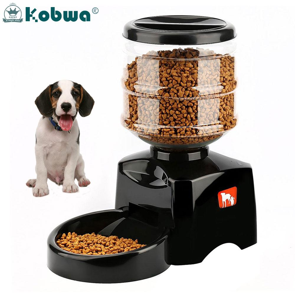 Who Sells Kobwa 5 5L Automatic Pet Feeder With Voice Message Recording And Lcd Screen Large Smart Dogs Cats Food Bowl Dispenser Intl The Cheapest