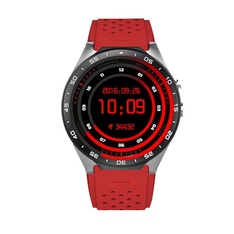 Tohayie KW88 Jam Tangan Pintar Android 5.1 OS MTK6580 Quad Core 1.3 GHz 2.0MP Kamera 3G WIFI GPS ROM 4 GB + RAM 512 MB Pria Smartwatch