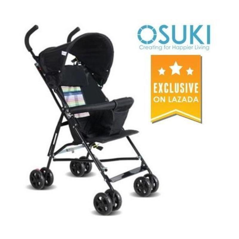 OSUKI Japan Quality Light Weight Foldable Baby Stroller (Black) Singapore