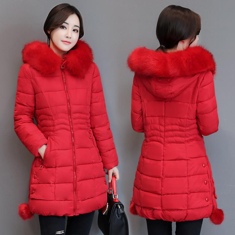 cbd6226203375 Winter New Products Coat Cotton-padded Clothes women Mid-length Korean Style  Slim Fit