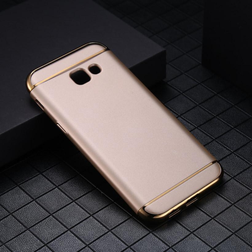 Galaxy A7 Mewah Menyepuh Dgn Listrik Shockproof Kembali Casing Kover untuk Samsung Galaxy A7 (2017
