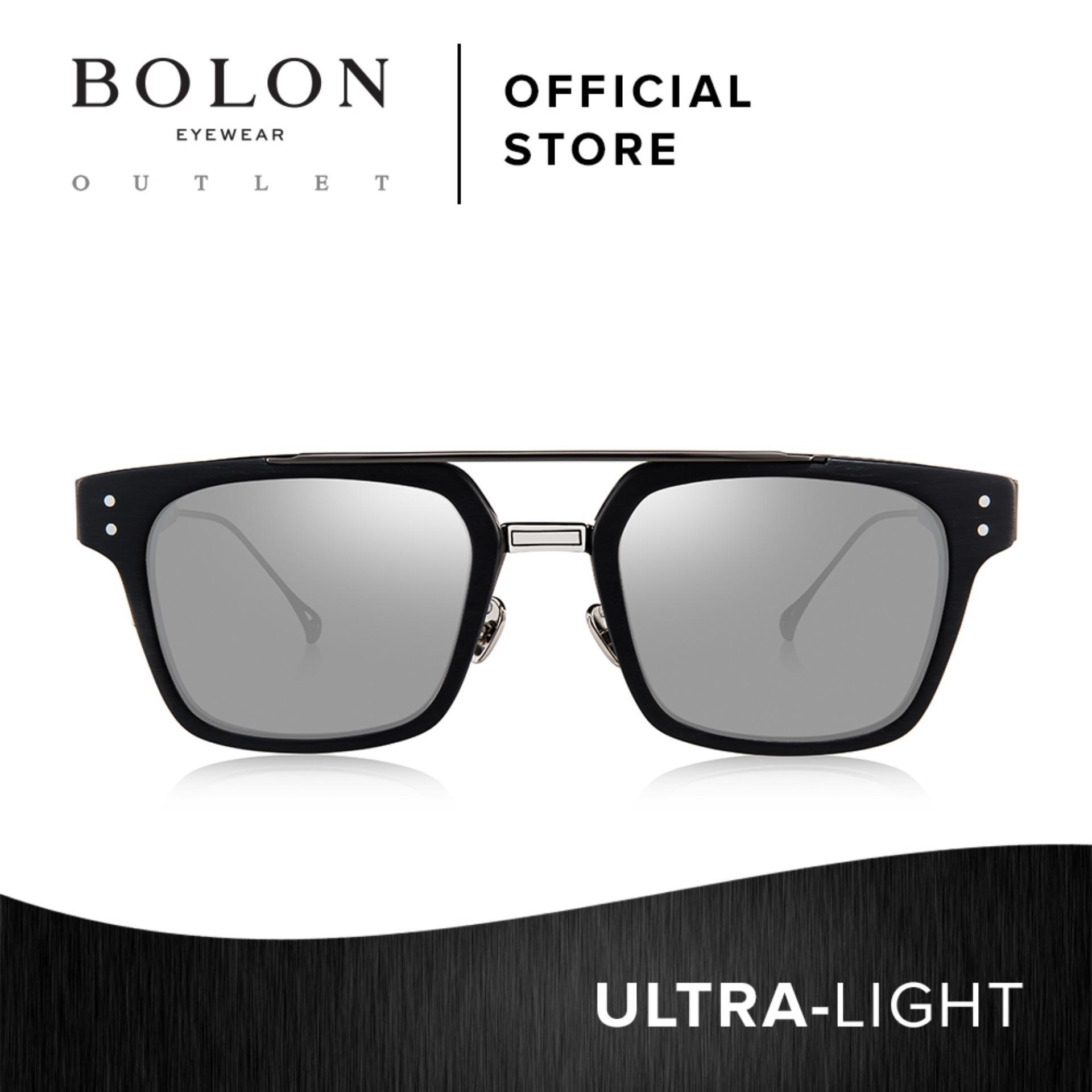 6cdc97a46ad BOLON Eyewear Unisex Square Sunglasses Skyler BV6000 Black