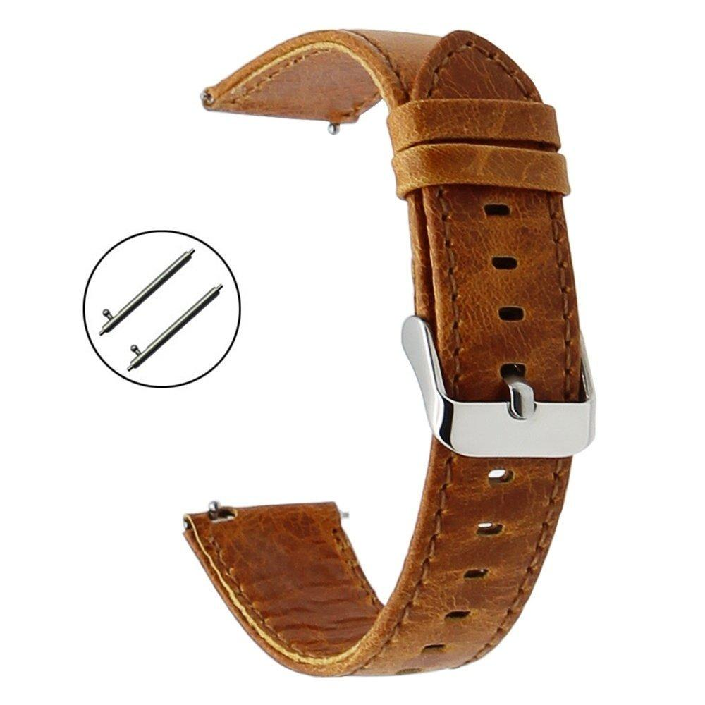 20mm Leather Watchband Quick Release Strap Universal Men Women Watch Band Wrist Bracelet - intl