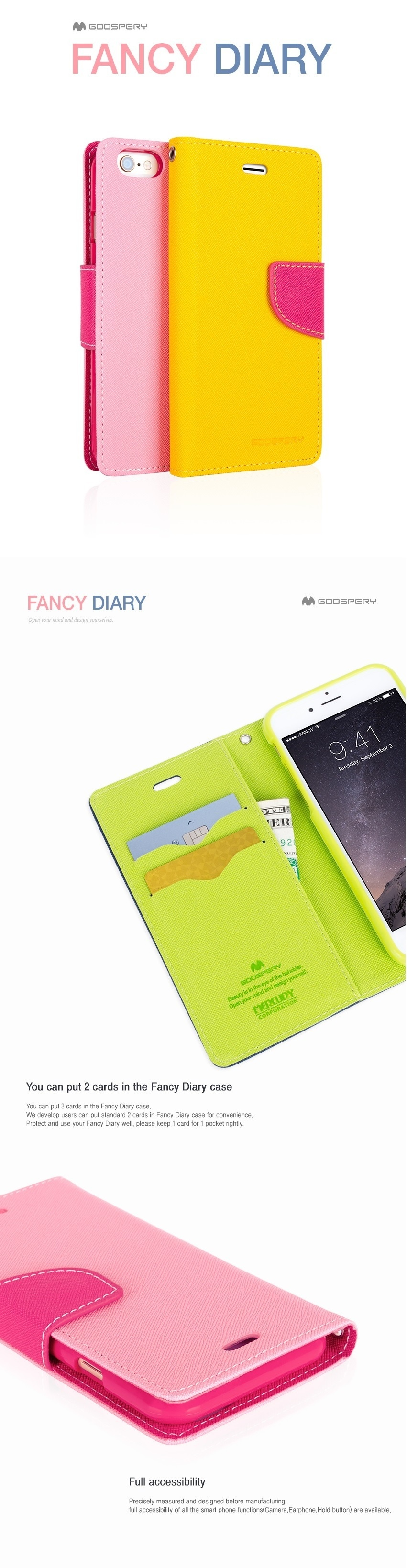 Goospery Iphone 7 8 Fancy Diary Case Authentic Lazada Singapore Plus Black Specifications Of