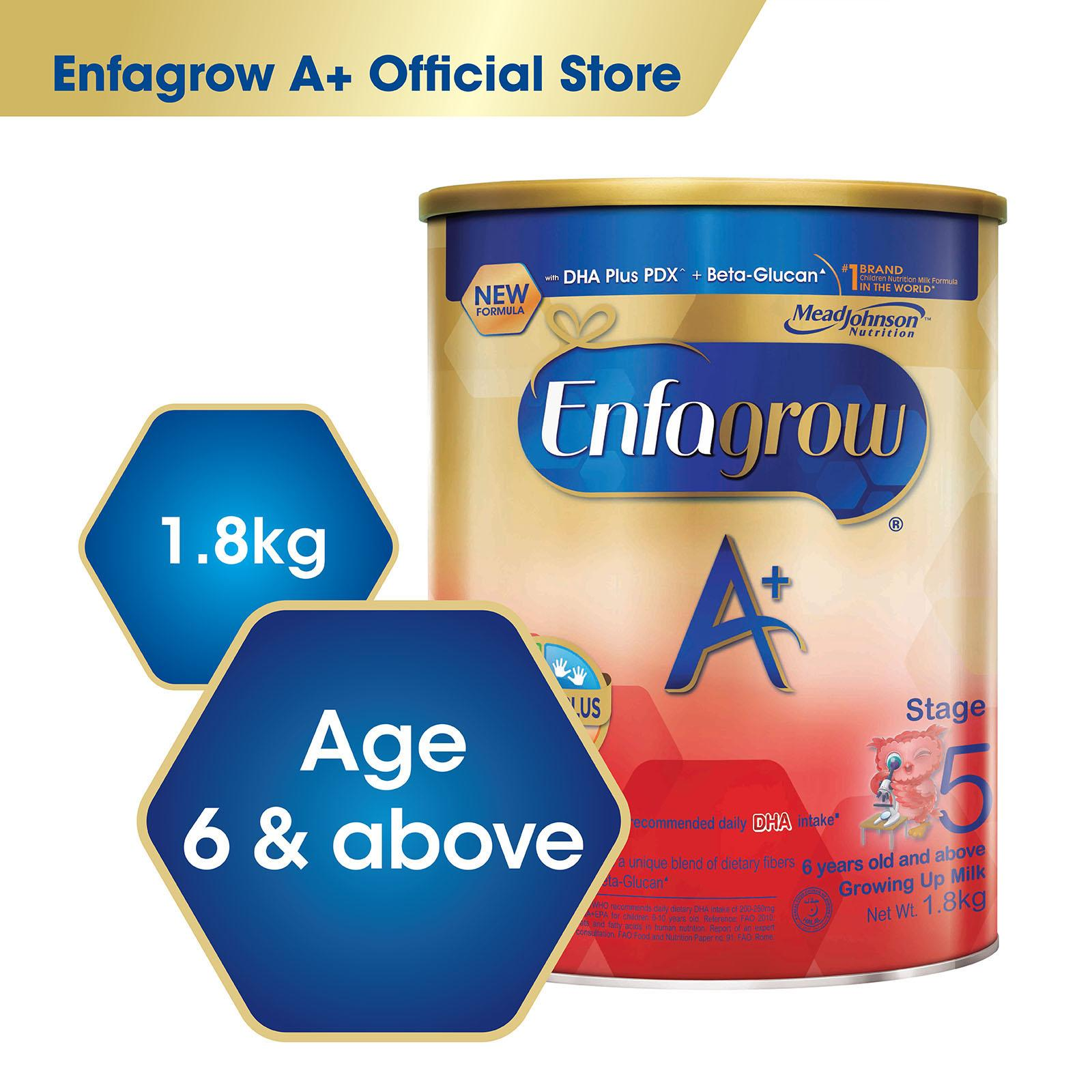 Get Cheap Enfagrow A With 360O Dha Plus Stage 5 Milk Formula 1 8Kg