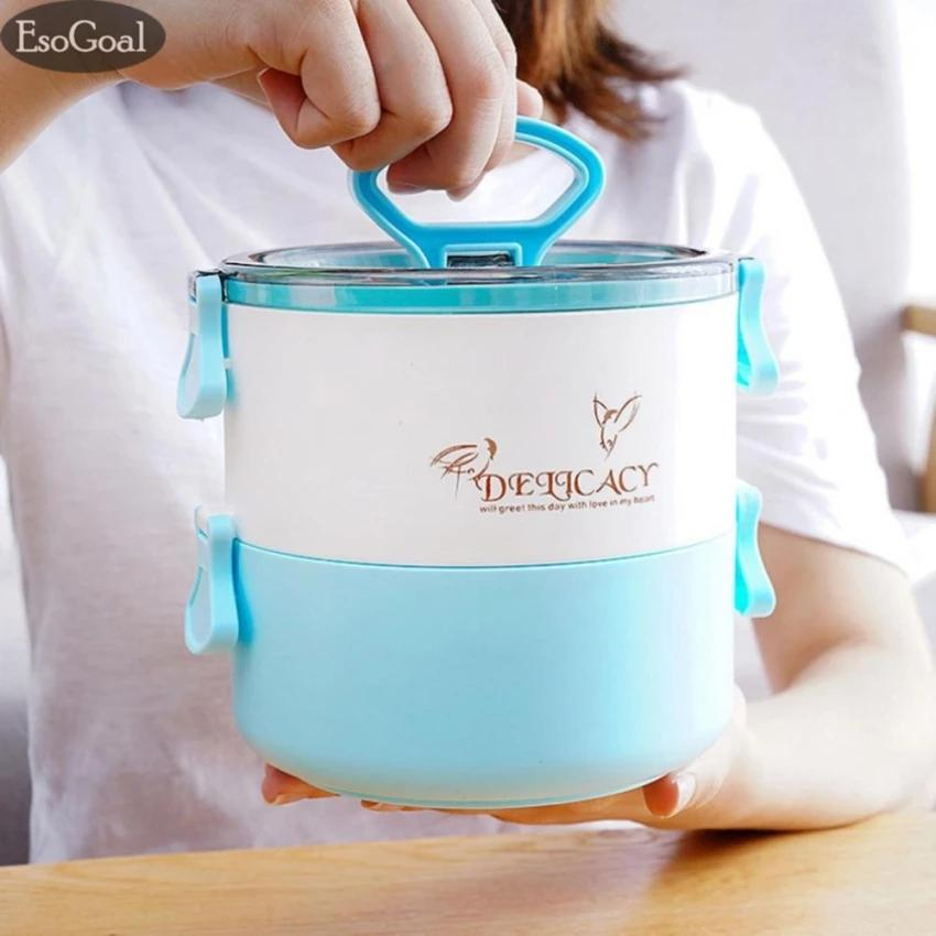 Sale Jvgood Portable 2 Layer Plastic Lunch Box Thermal Insulated Sealed Lunch Box Random Color Jvgood Online