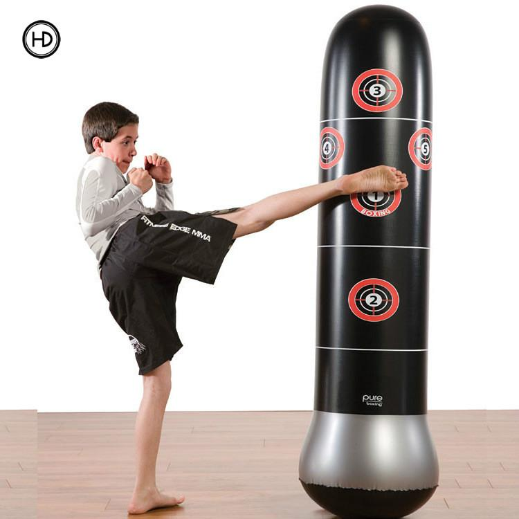 Sports Fitness inflatable vertical boxing column, sandbags, venting toys, thickened 1.6 meters high