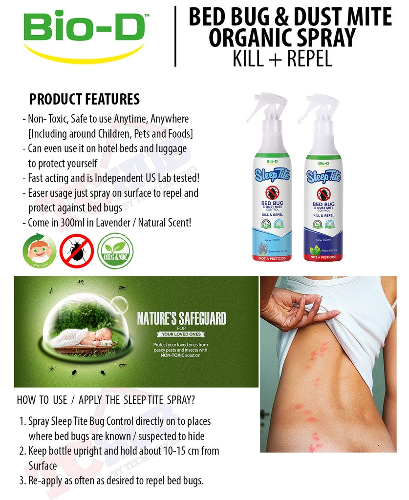 Bio D Bed Bug And Dust Mite Spray Lavender Lazada Singapore
