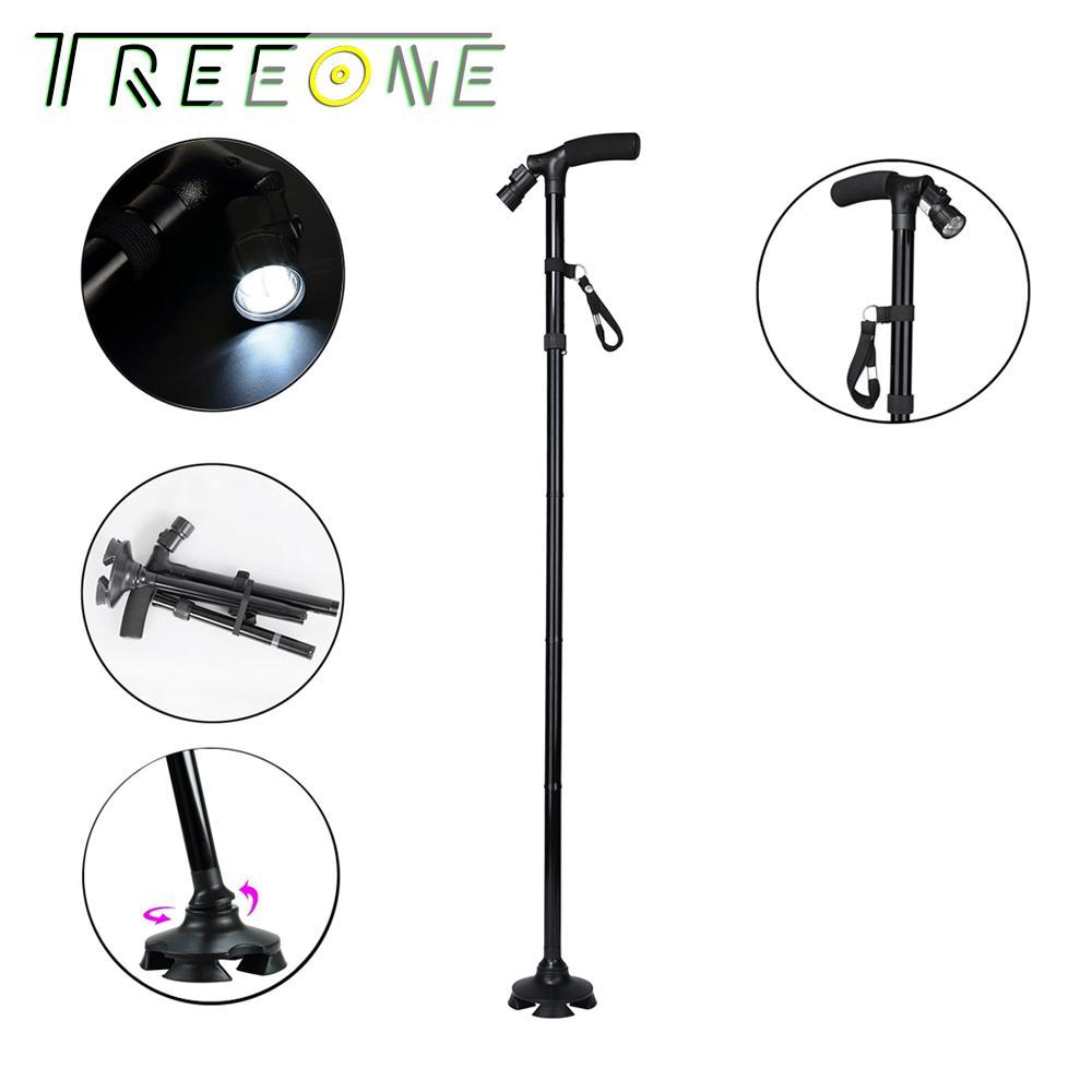 Deals For Folding Cane Walking Stick With Led Light Sponge Handle 5 Adjustable Height Levels
