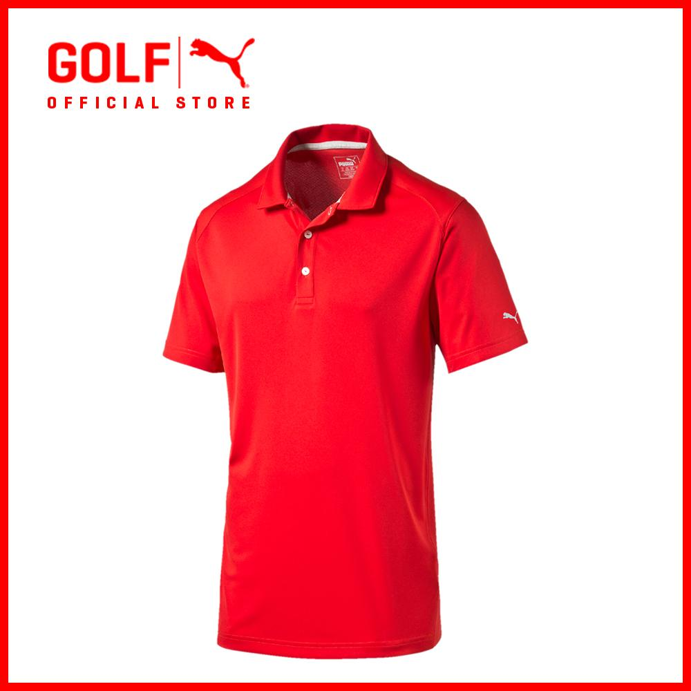 Buy Puma Golf Men Ess Pounce Polo Cresting High Risk Red Puma Golf Cheap
