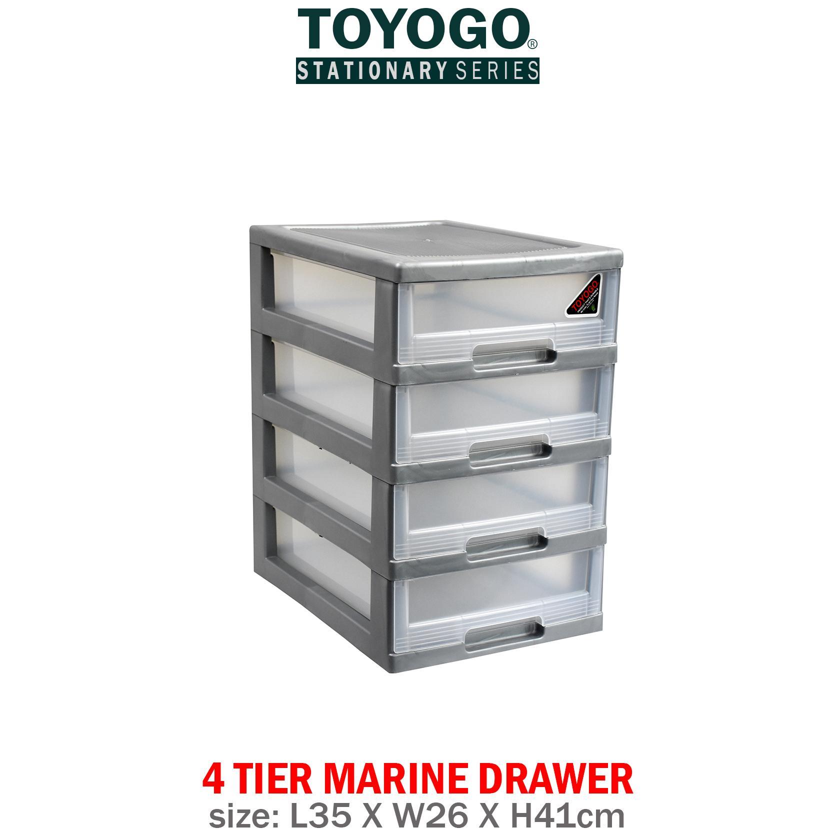 [541-4]TOYOGO - PLASTIC A4 DRAWER