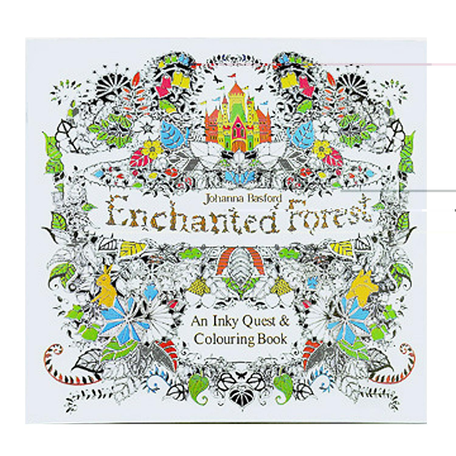 Painting Coloring Book Paper For Stress Relieving Meditation Relaxation Children Kids Boys Girls Adults