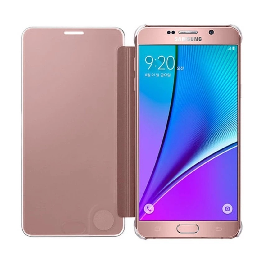 on sale 68fd9 046ff S-View Flip Cover Clear View Cover Case for Samsung Galaxy Note 5 - intl