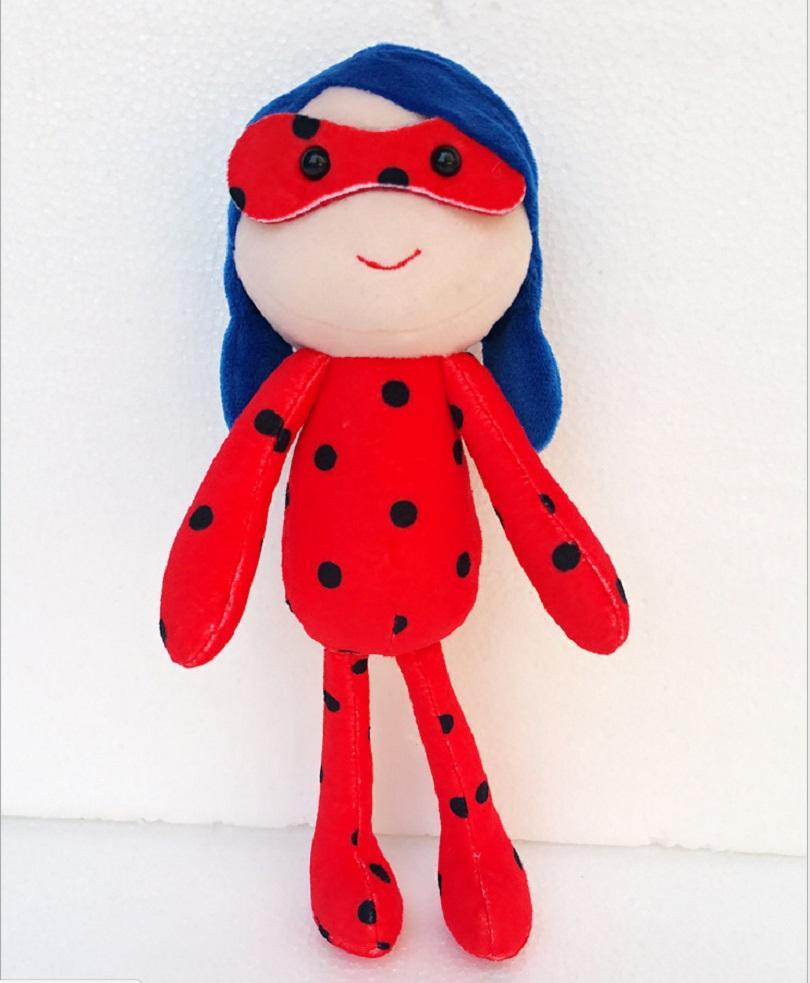 25 CM Kepik Ajaib Figurine Mainan Mewah Kawaii Komik Hitam Pahlawan Adrien Marinette Ladybug Mainan Stuffed Gadis Boneka Pendidikan Mainan Cahaya Abu-abu