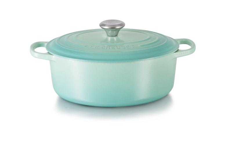 Le Creuset Cast Iron Oval French Oven 29cm, Classic (Cool Mint) - Online Exclusive Singapore