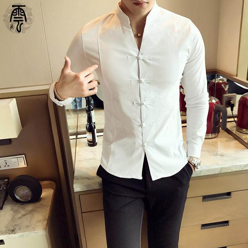 Top Rated Tea Chinese Tang Chinese Clothing Spring Frog Long Sleeve Shirt