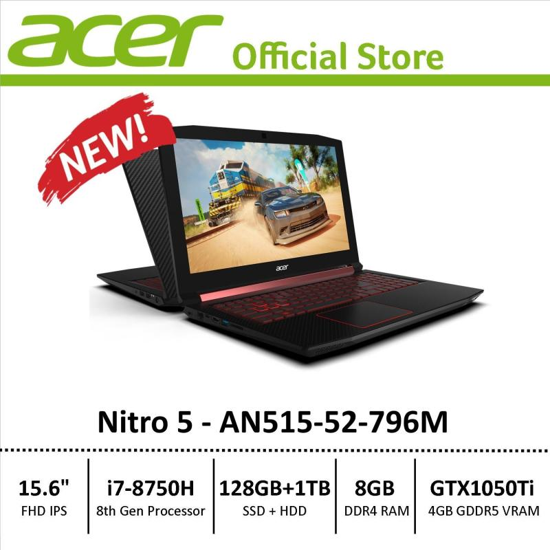 Acer Nitro 5 (AN515-52-796M) Gaming Laptop - 8th Generation i7 Processor with GTX 1050Ti Graphics