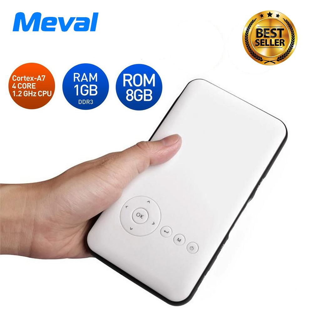 Meval S6 Smart Android Projector Mini Portable Wifi Bluetooth Wireless Ipad Iphone Intl Coupon