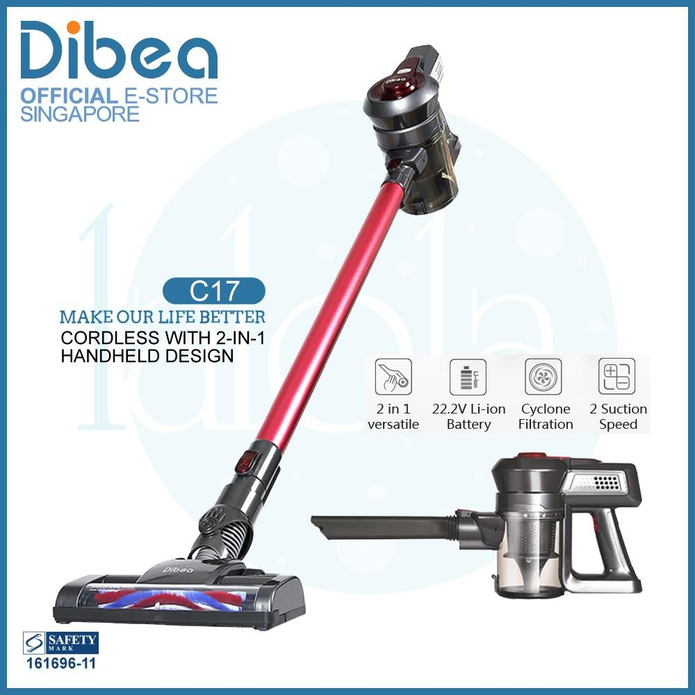New Official Dibea Singapore C17 Cordless Vacuum Cleaner
